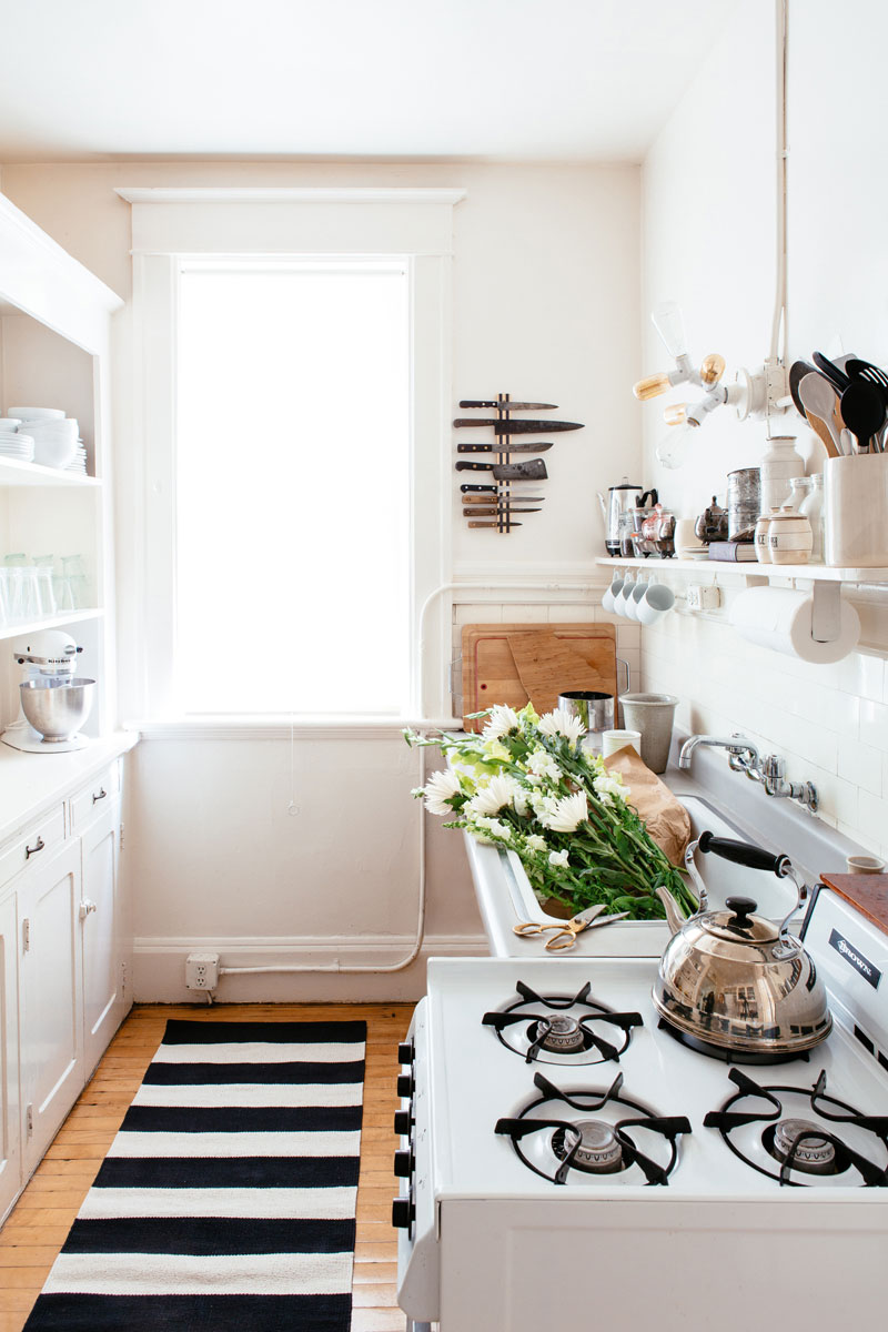 Small Kitchen Apartment Therapy 10 Space Saving Hacks For Your Tiny Kitchen Huffpost