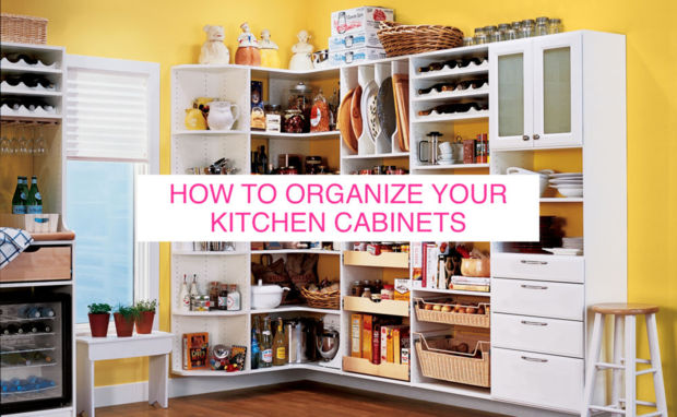 How to organize your kitchen cabinets huffpost for Ideas organizing kitchen cabinets