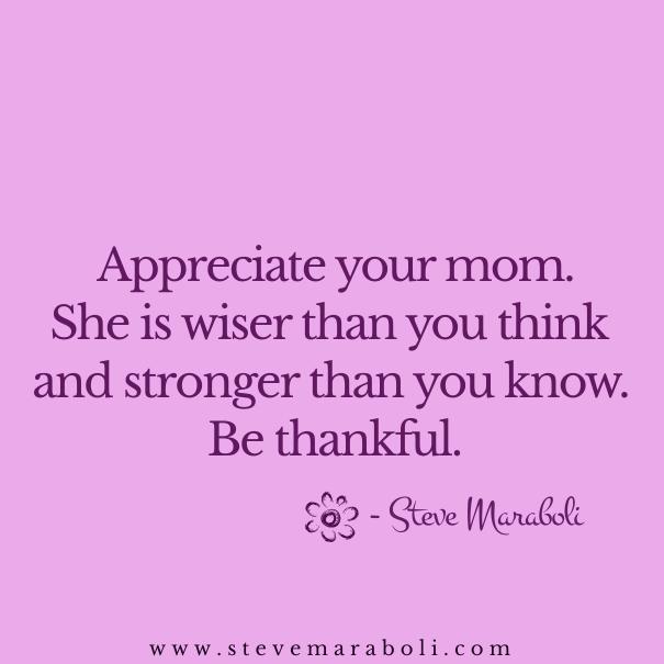 How to appreciate your mom