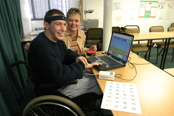 Martin with Prof Juan Bornman, at  the Centre for Augmentative and Alternative Communication