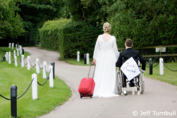 Martin and Joanna Pistorius - just married, photo courtesy of Jeff Turnbull