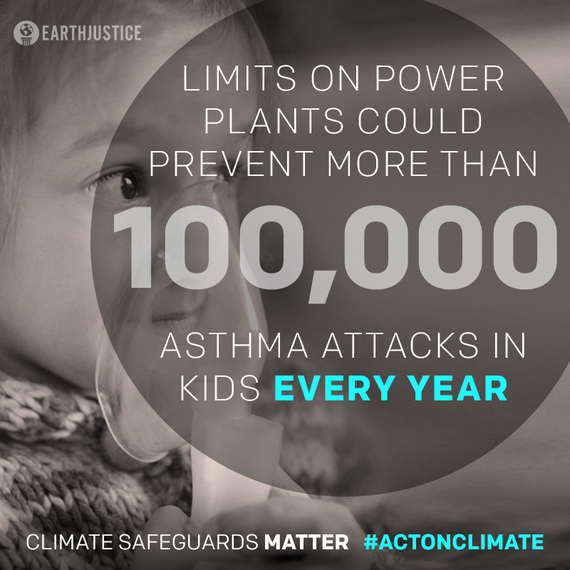 Limits on power plants could prevent more than 100,000 asthma attacks in kids every year.