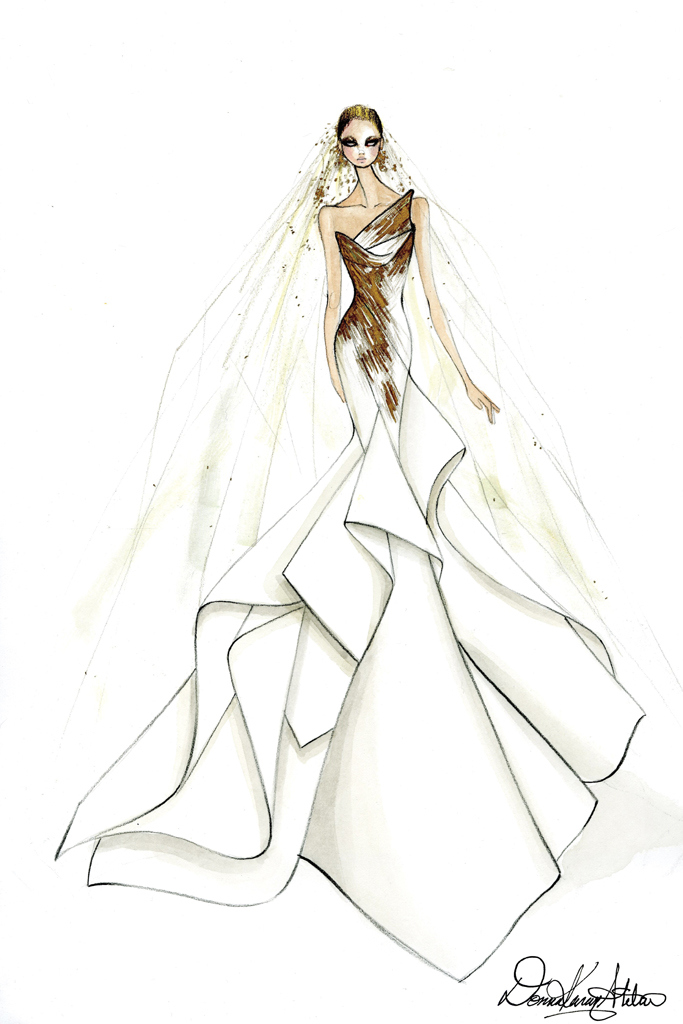 The Lady Gaga Wedding Dress Sketches That Left The Star ...