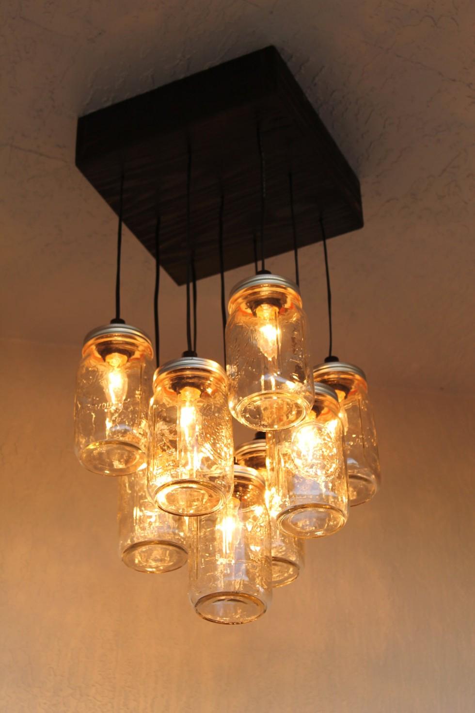 Mason Jar Lighting Diy – Mason Jar Chandelier Diy