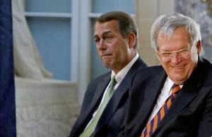 Former Republican Speaker of the House Dennis Hastert and current Speaker John Boehner