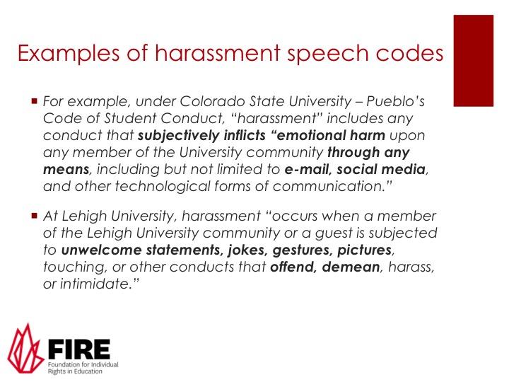 Speech code