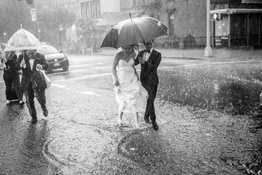 These Newlyweds Refused To Let Bad Weather Rain On Their