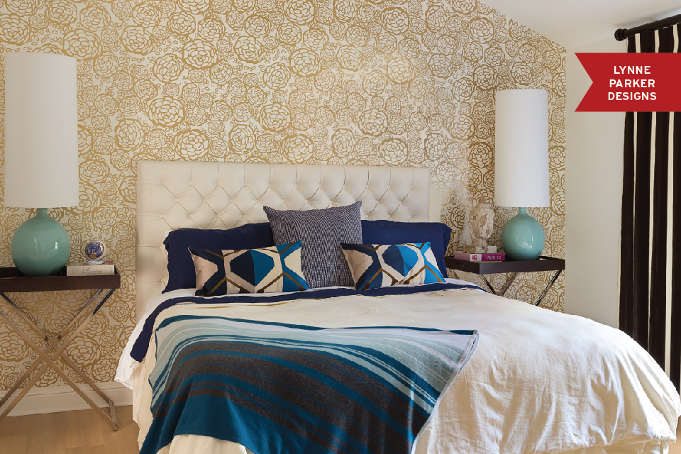 make a statement with papered walls in the bedroom huffpost On statement wallpaper bedroom