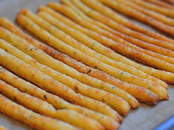 they look like bread sticks, these crisp and flakey cheese straws ...