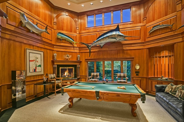 5 amazing man caves for every dad huffpost for Koi pond pool table