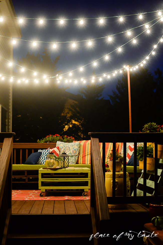 7 brilliant ways to decorate with string lights huffpost Patio and deck lighting ideas