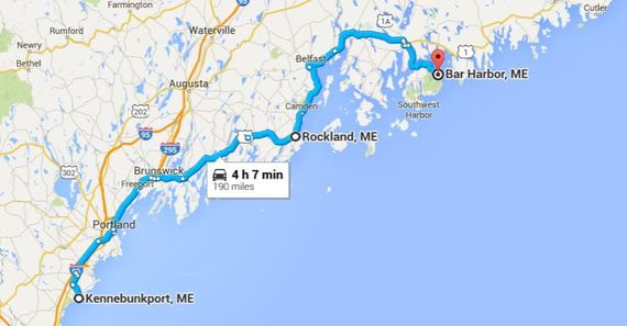 Plan The Perfect Maine Coastal Road Trip The Easy Way HuffPost - Road map maine