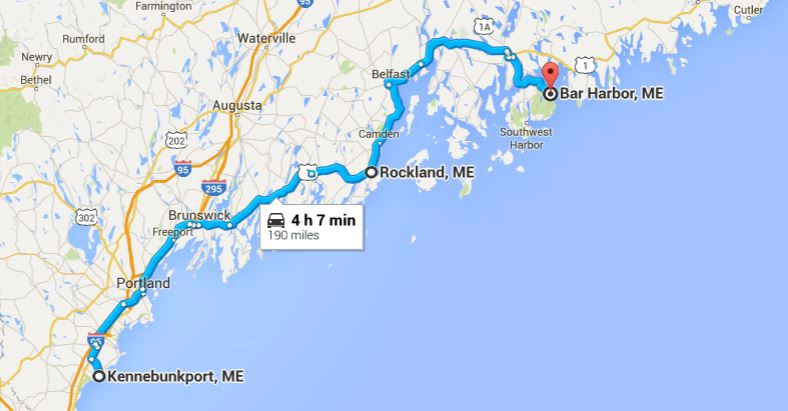 Map Of Maine Coastline Towns.Plan The Perfect Maine Coastal Road Trip The Easy Way Huffpost Life