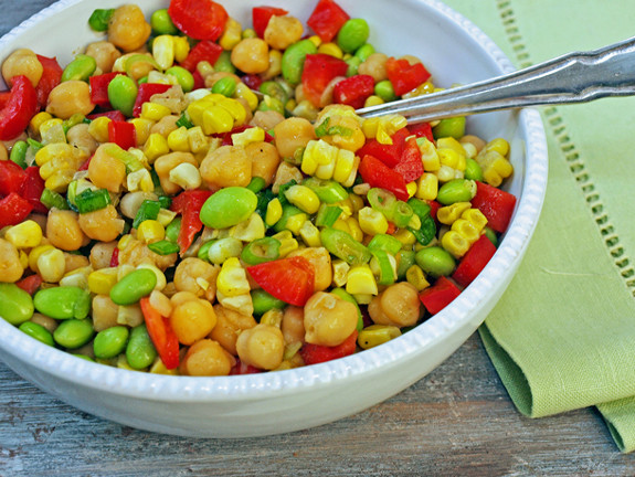 chickpeas in a cumin-scented honey-lime vinaigrette, this salad ...