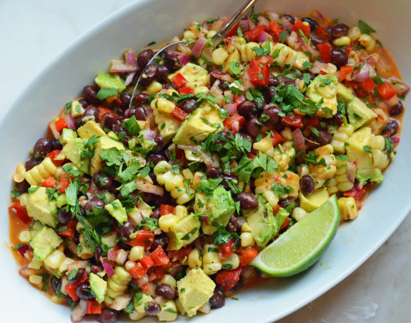 With black beans, sweet corn, crisp bell peppers and creamy avocado ...