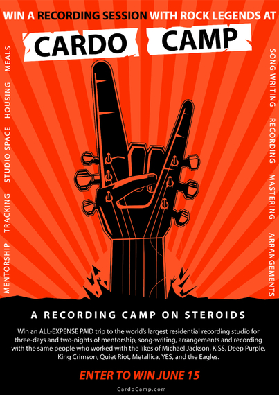 Win a Recording Session With Rock Legends From CardoCamp