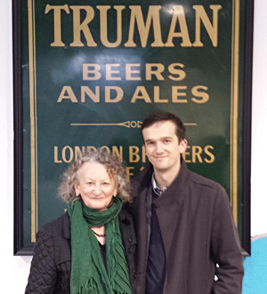 Tom with Jenny Jones at Truman Brewery