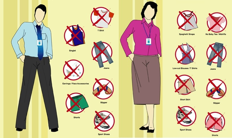 essay on dress code at workplace The purpose of this study was to determine whether or not supervisors of selected work-study students at the master's college experienced a decline in the performance of their employees since the relaxing of the campus dress code the survey instrument used in this study was a six-question likert-type attitudinal scale to.