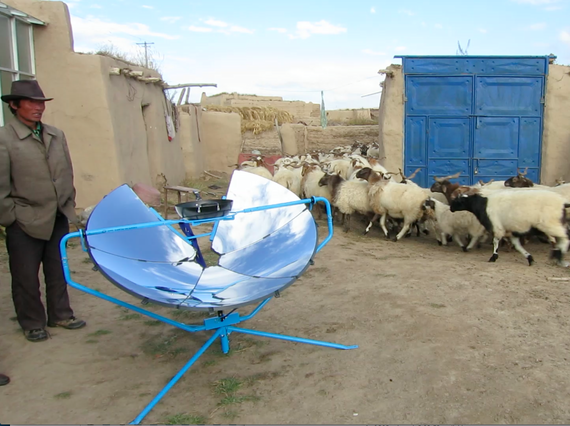 One Earth Designs' SolSource solar cooker serves households in rural areas