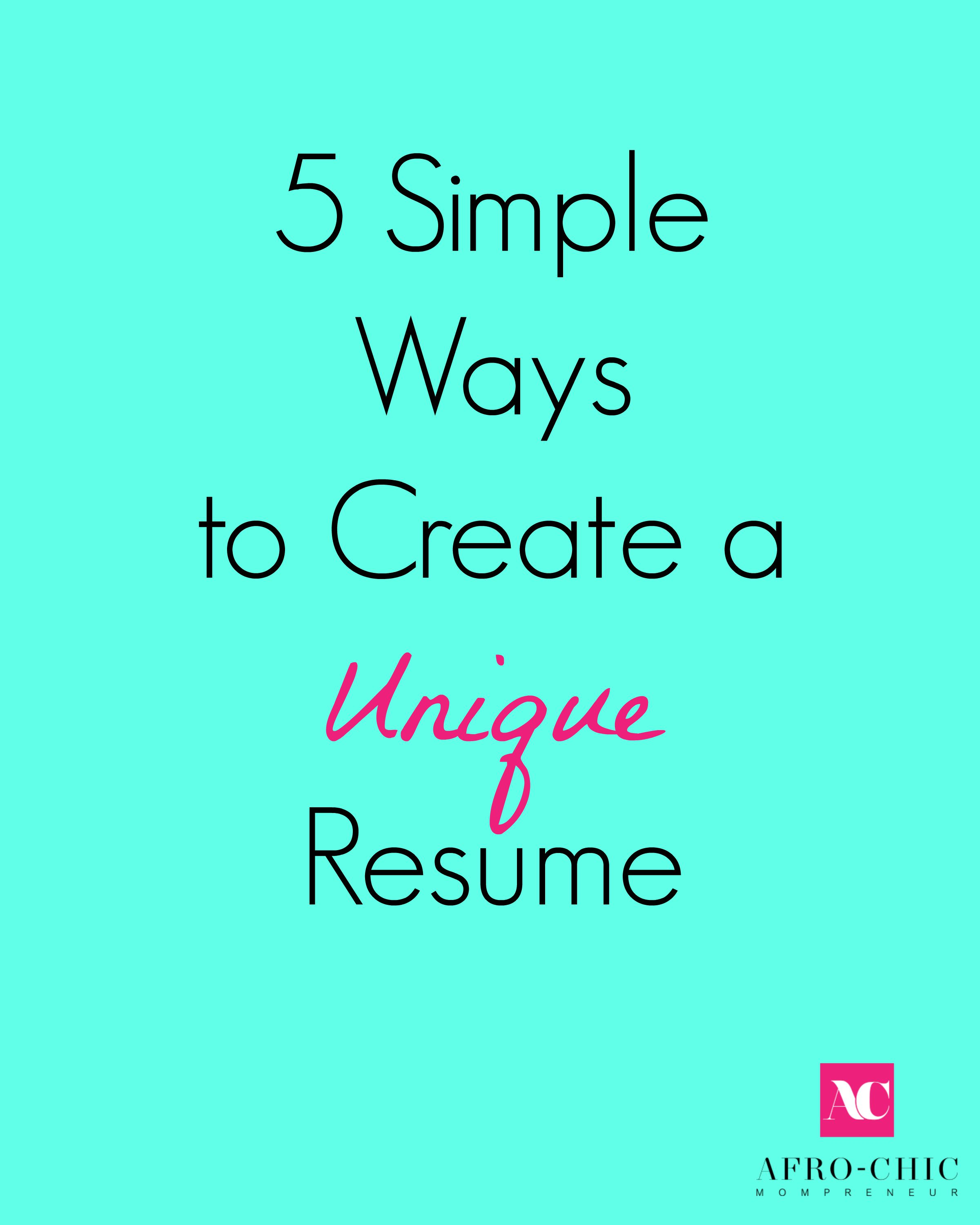5 simple ways to create a unique resume the huffington post 2015 08 14 1439555868 4365440 resumeshoppe jpg
