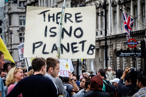 Protest sign - there is no Planet B