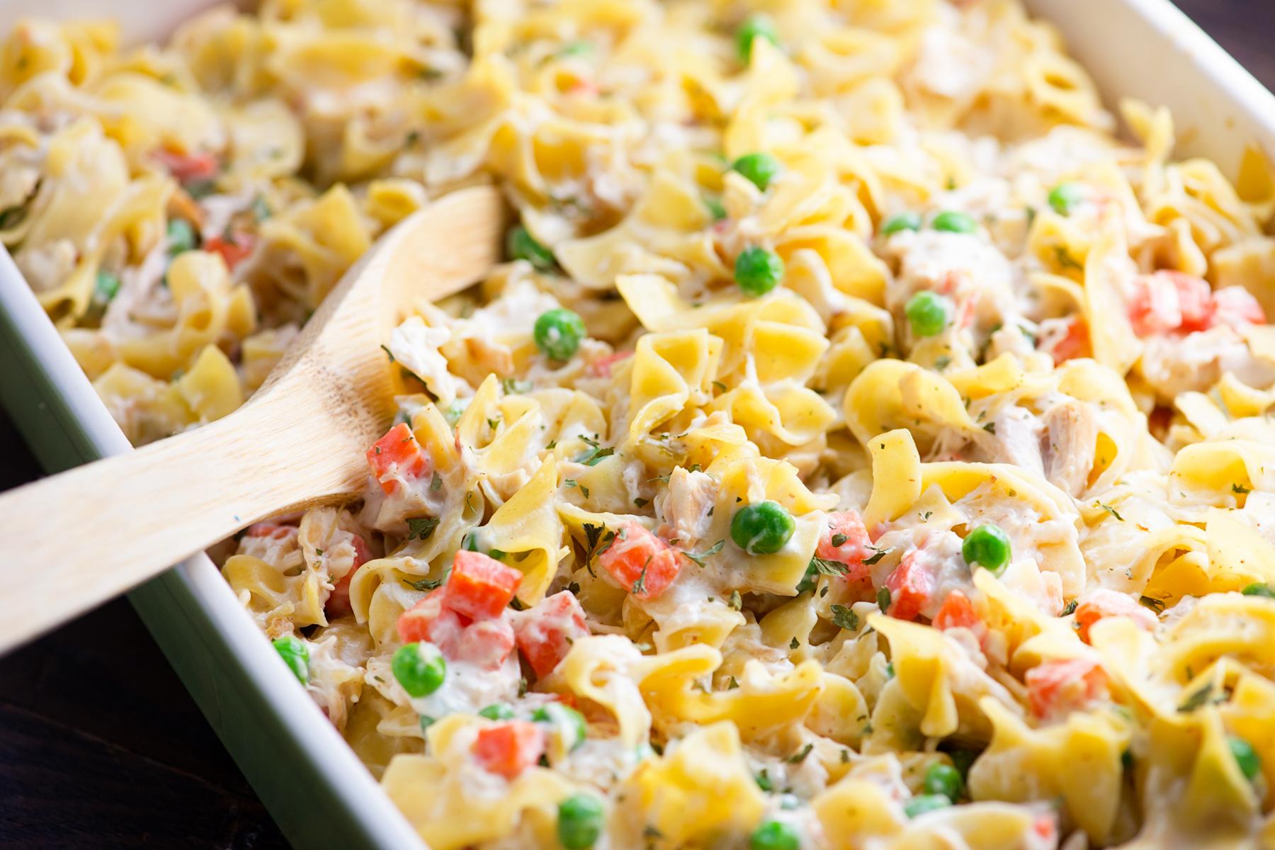 Chicken Noodle Casserole Is a Back-To-School Win | Food Fanatic