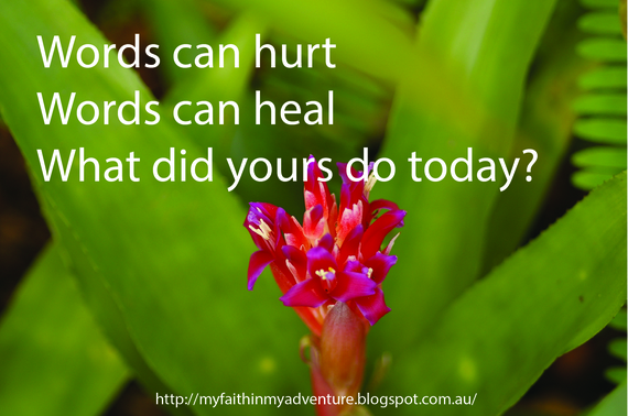 Image result for words can hurt or heal