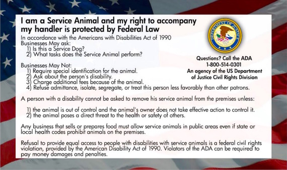 Oregon Law Service Dog