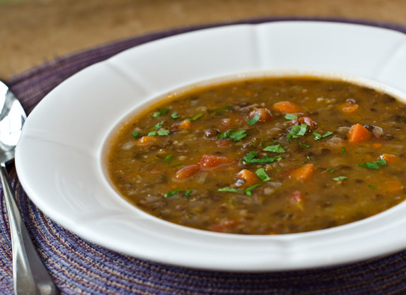 flavor to this hearty lentil soup. It's made with French green lentils ...
