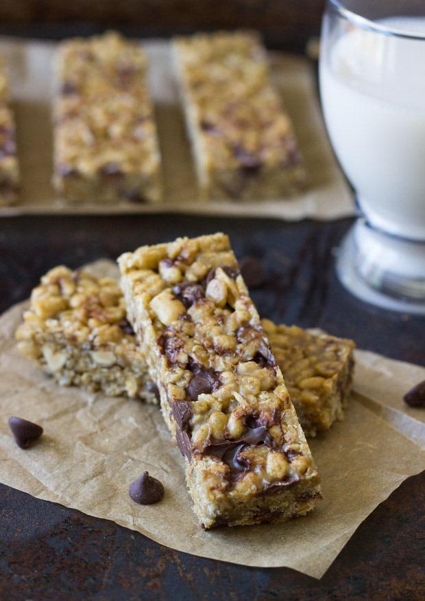 Almond Butter Chocolate Bars Recipe