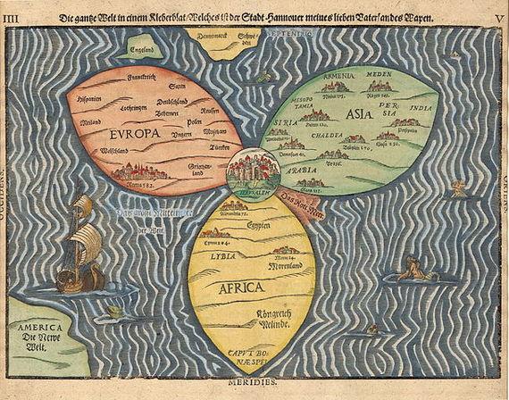 Bünting Clover Leaf Map - Jerusalem