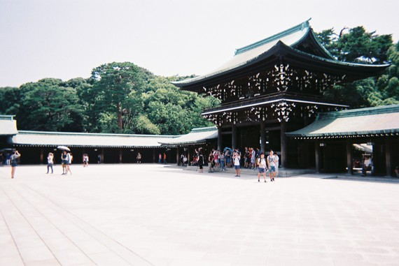 Kuil Meiji Shrine in Shibuya