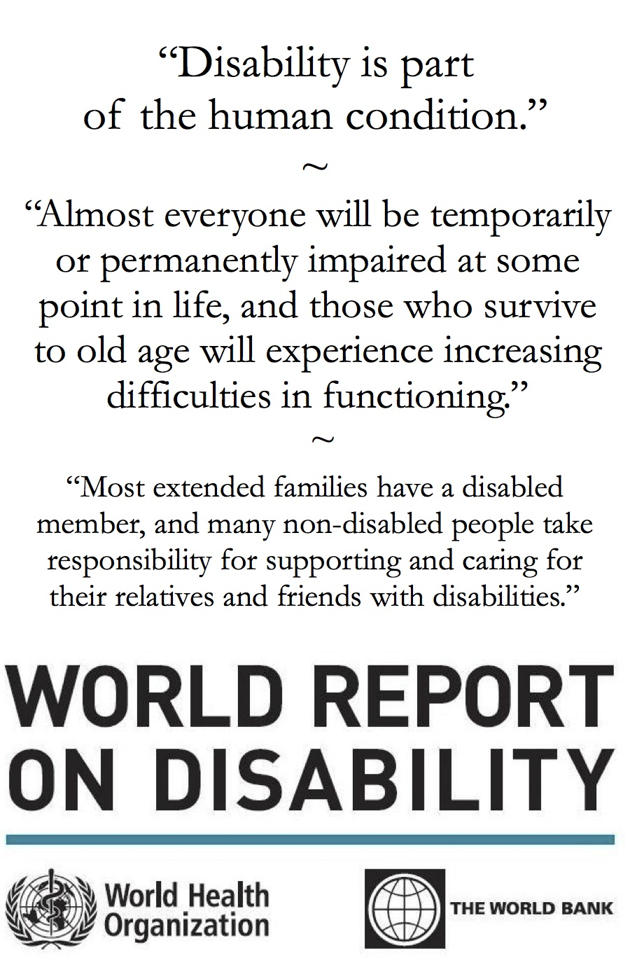 essay on disability is not an ability Answer to ability is a blessing in contrast, disability should be considered neither a curse, a sign of god's wrath nor his ret.