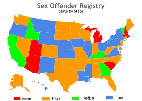 Number of sex offenders in us