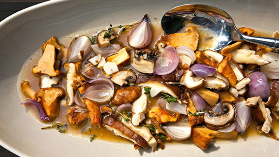 Italian Wild Mushrooms Recipe by Michael Tusk