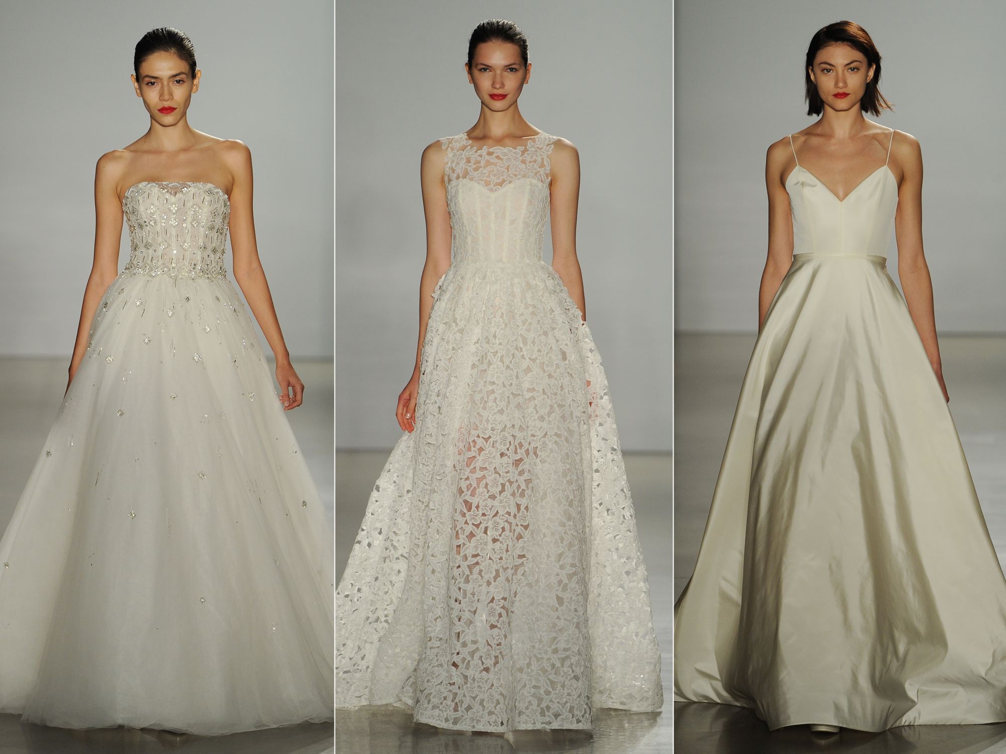 new amsale wedding dresses are modern and romantic weddbook