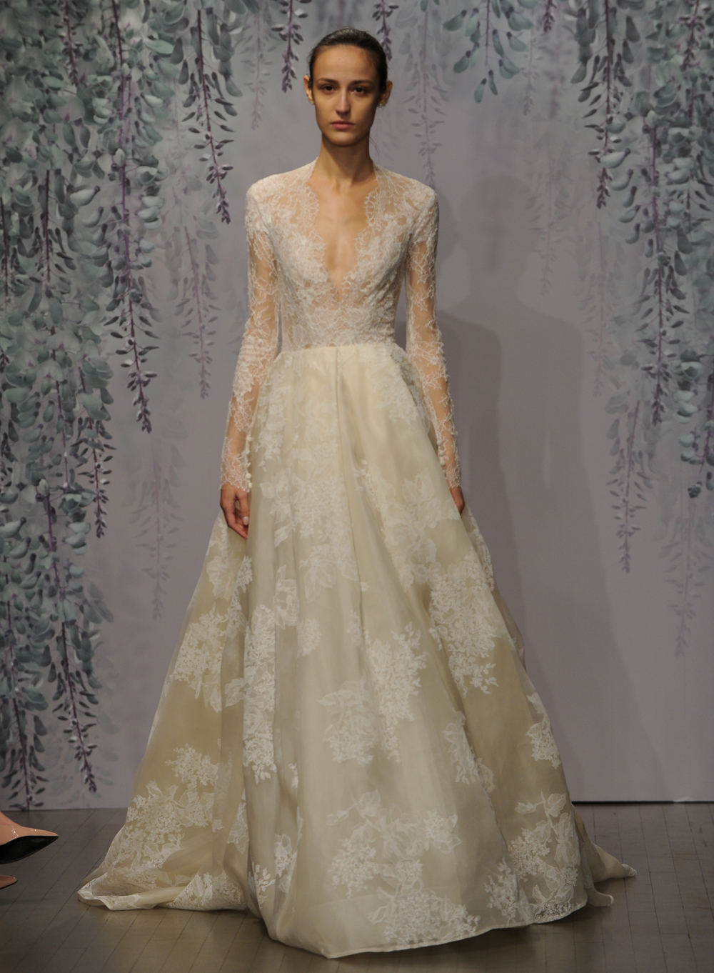 f44ea42361e Monique Lhuillier's Fall 2016 Wedding Dress Collection Is Romance ...