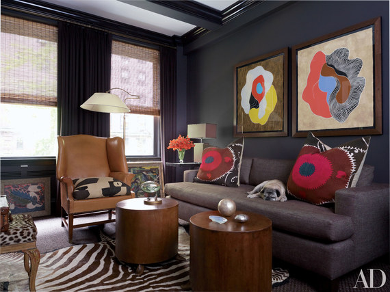 Living Rooms Decorated With Fall Colors Huffpost