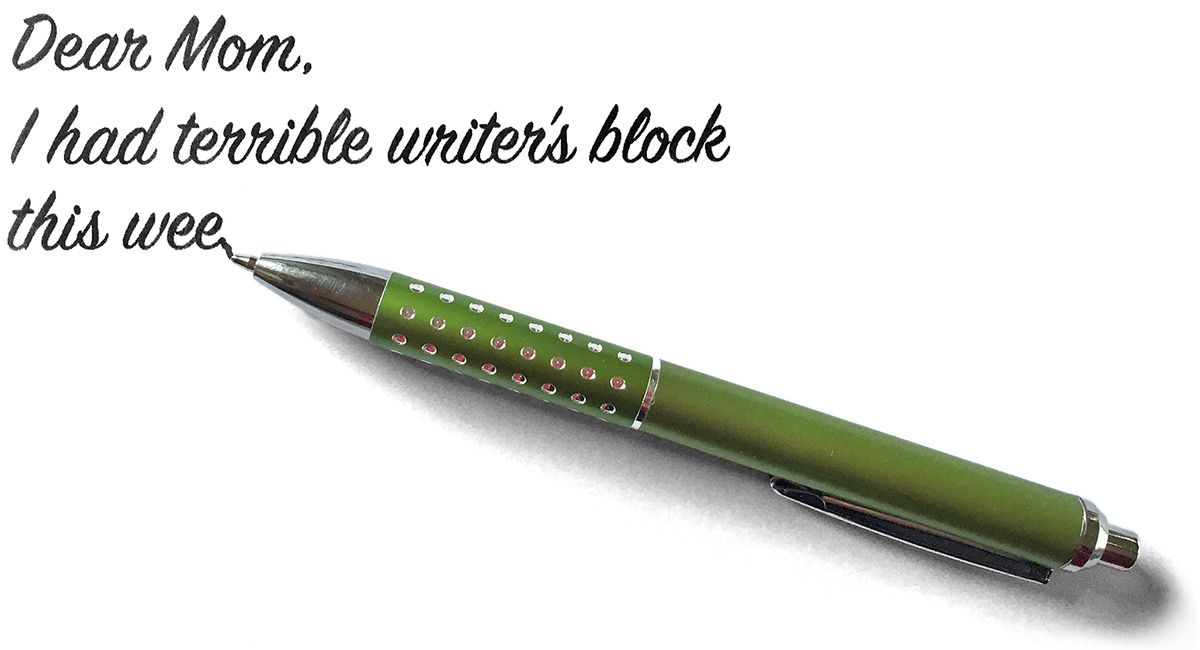 Anyone know a cure to writers block.?