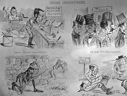 irish stereotypes in the 1800s Immigrants of the late-1800s to the early-1900s julia campbell rachel southward  stereotypes -forced to live in very crowded slums  -irish immigrants were.