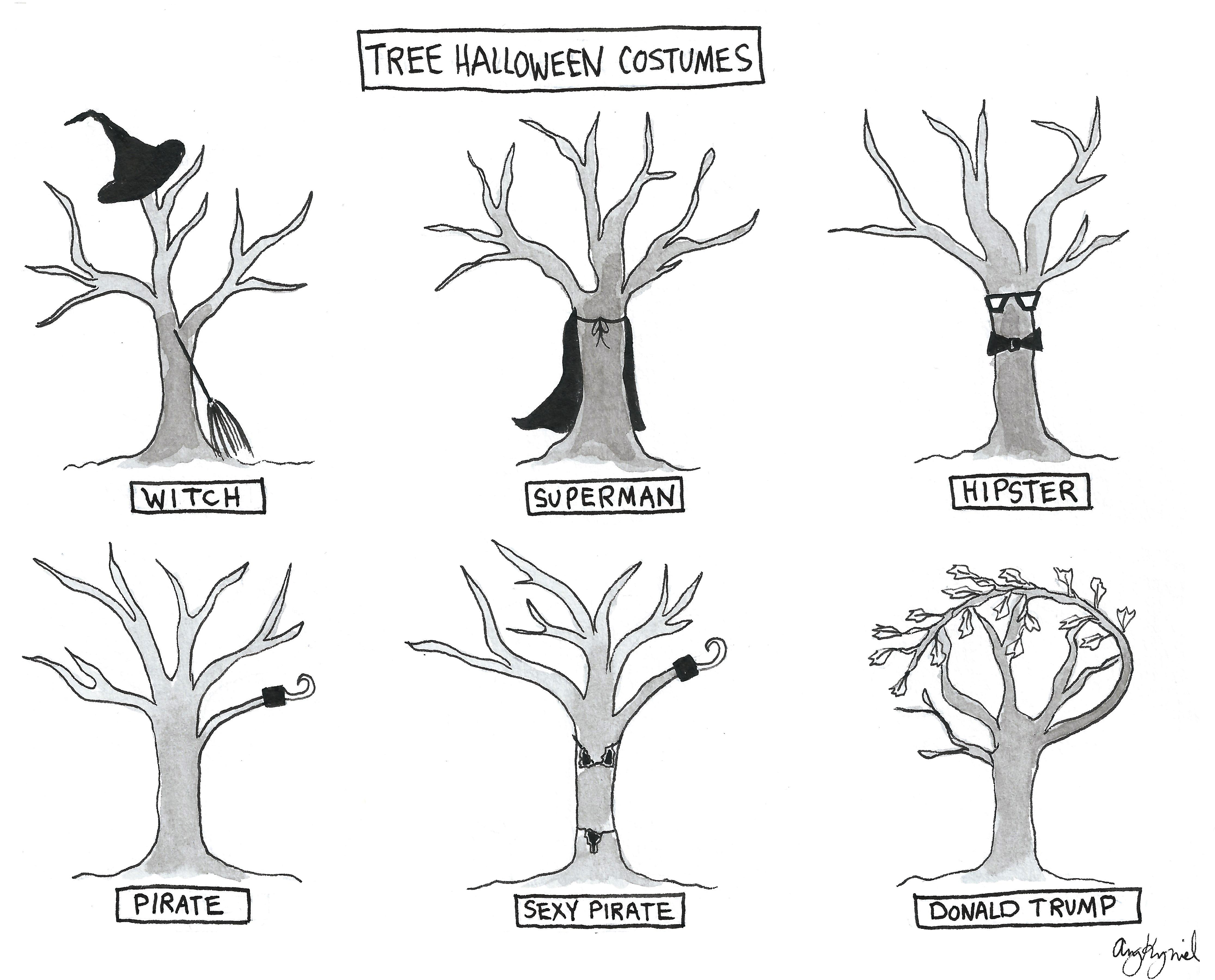 tree halloween costumes huffpost
