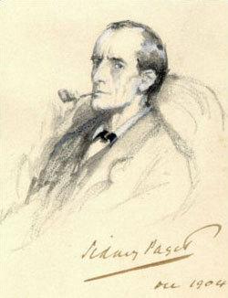 Sherlock Holmes Portrait by Sidney Paget, via Wikimedia, in the public domain,