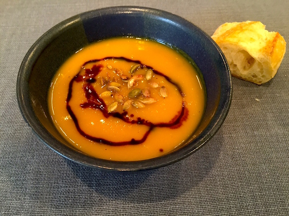 Butternut Squash Soup With Pumpkin Butter Recipe — Dishmaps