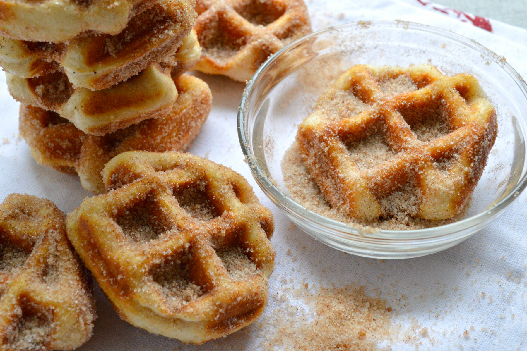 Minute Cinnamon Sugar Waffle Bites are so easy, you won't believe it ...