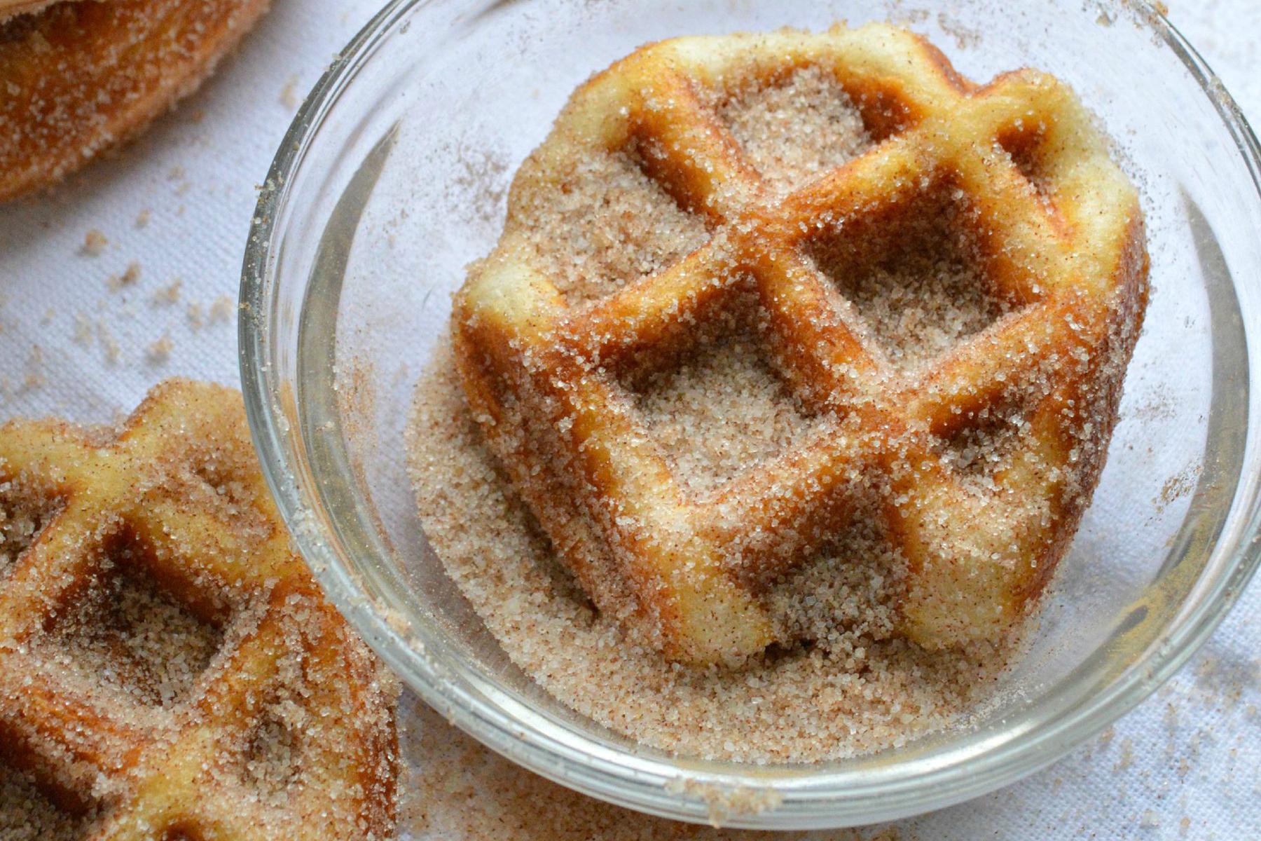 Unbelievable 5 Minute Cinnamon Sugar Waffle Bites | The Huffington ...