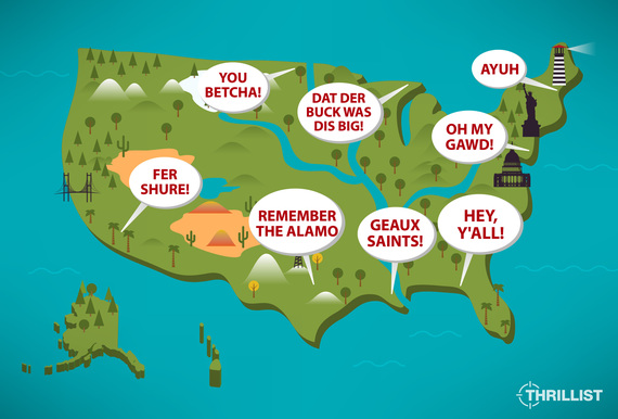 Distinct Regional American Accents Ranked HuffPost - Southern accents in the us map