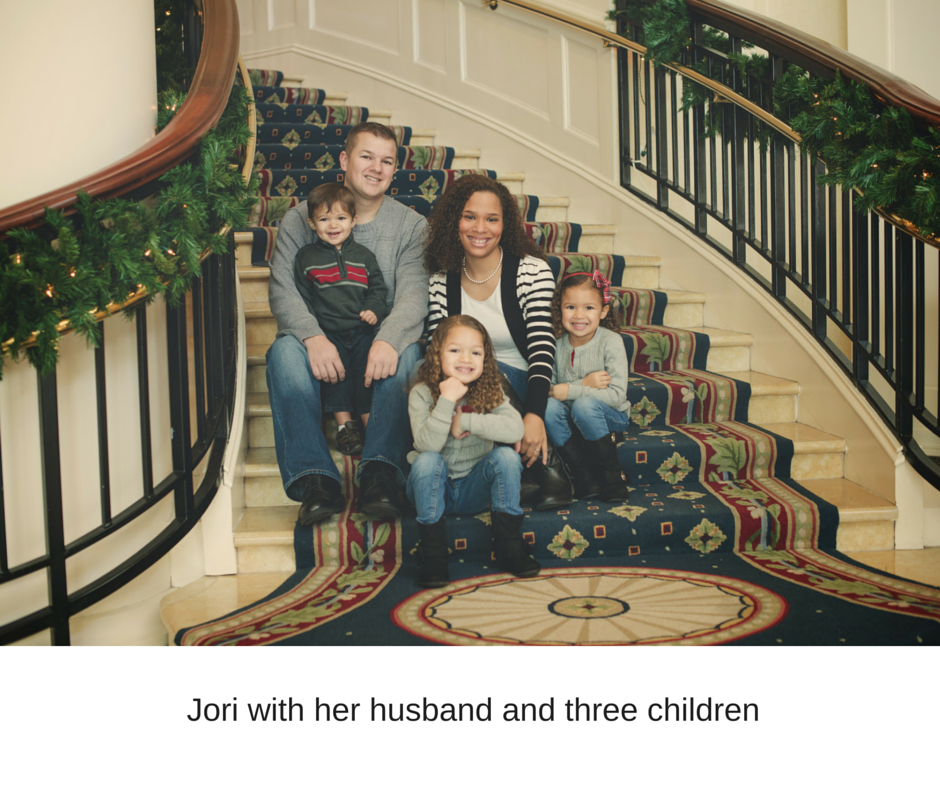 Jori-with-her-husband-and-three-children