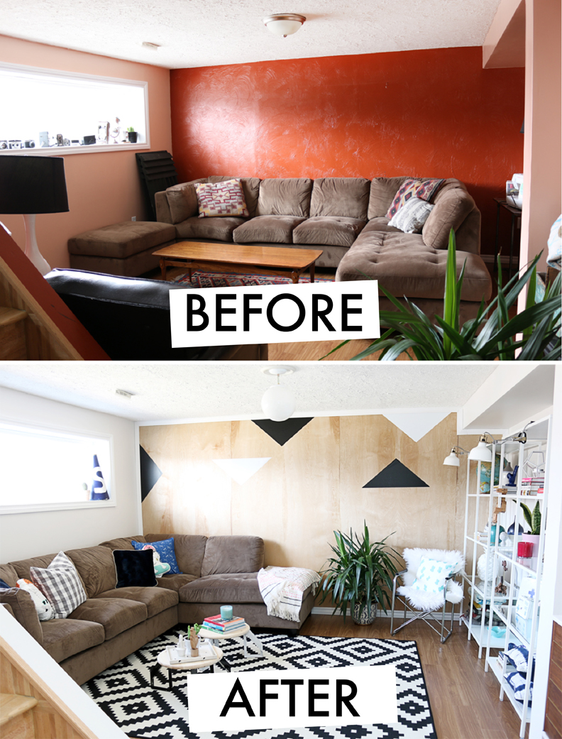 20 incredible room before and after transformations huffpost for Living room makeovers