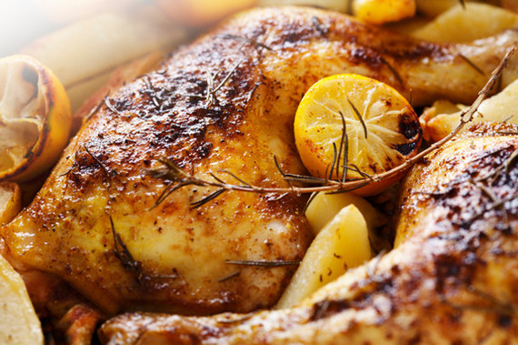 This easy roast chicken with herb butter is the perfect cozy dish for ...
