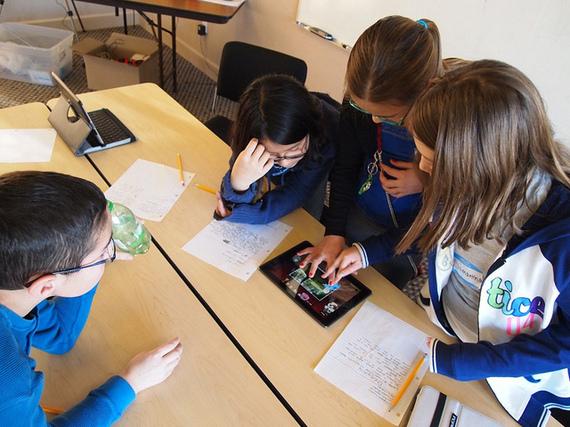 Students on iPad at School